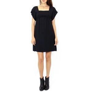Anthropologie Maeve Alyssum black squareneck dress